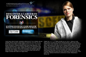 Landing page for Forensic leads on AllCriminalJusticeSchools.com