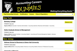 Listings page for ASD's partnership with For Dummies