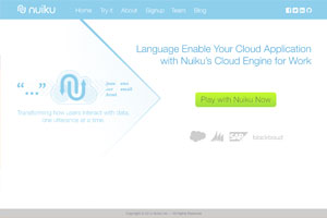 Nuiku home page redesign idea